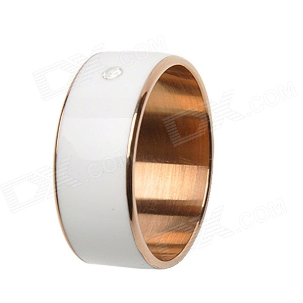 Intelligent Magic Ring with NFC for Smart Phone - White (Size 10) timer mj02 intelligent wearable nfc lord magic ring size 11