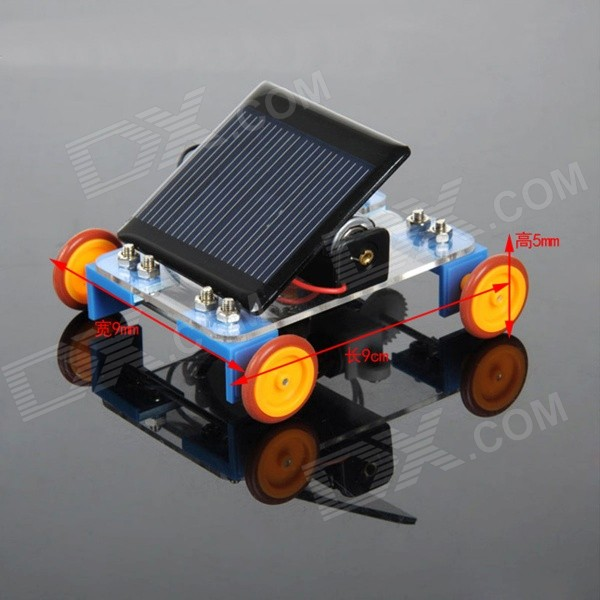DIY Educational Assembled Solar-Powered Car Vehicle Toy for Children / Kids - Blue + Multicolor maikou 7 in 1 solar diy assembling toys space educational toy