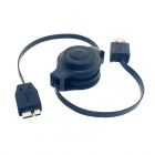 CY U3-197 USB 3.0 Standard A Type Male to Micro USB 10pin Retractable Flat Extension Cable (100cm)