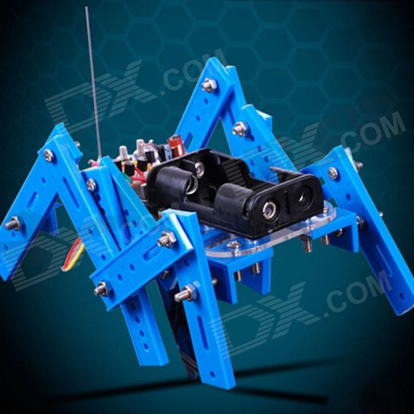 платформа multi joint 6 leg robot 4 roboblock DIY Educational Assembled 6-Leg Robot Toy for Children / Kids - Blue + Multicolor
