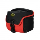 DSTE Nylon Camera Shoulder Bag for Fuji X-A1 M1 / Olympus E-M1 M10 / Pentax Q10 K01 - Red + Black