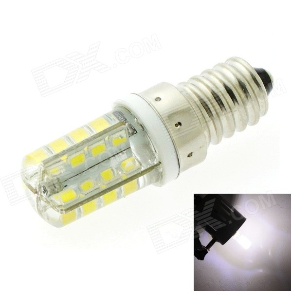 HONSCO E14 3W 220LM 6500K 32x2835 SMD LED Cool White Light Silicone Cover Corn Bulb (AC 220V) youoklight c35 10p e14 e14 2w 120lm 7500k 10 smd 2835 led cool white bulb white ac 220v