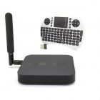 MINIX NEO X8-H Plus Quad-Core Android 4.4.2 Google TV Player + Mini English Keyboard - Black