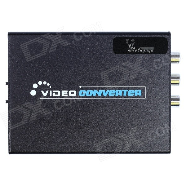 цены Aoluguya AL01 1080P HDMI to Composite / S-Video Converter w/ US Plug - Black