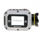 "W5 Waterproof HD 1080P 1.5"" LCD 2/3"" CMOS 12MP Wi-Fi Sports Camera w/ Mini HDMI / TF - White"