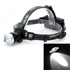 Outdoor 1000lm 3-Mode Cool White Light LED Headlamp - Black (2 x 18650)