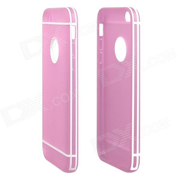 ENKAY Protective TPU + Plastic Back Case Cover for IPHONE 6 4.7 - Pink shengo diamond plated tpu back cover for iphone 6s 6 pink romantic
