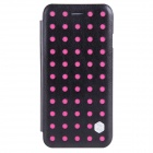 NILLKIN POP Series Protective Flip Open PU Leather Case for IPHONE 6 - Black + Pink