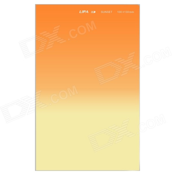 LIPA 4'' x 5.2'' Sunset Soft Resin Graduated Filter for Cokin Z Series + More - Translucent Orange