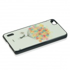 Colorful Balloon Pattern PC Back Case for Huawei Honor 6 - White + Yellow