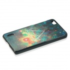 Starry Sky & Triangle Pattern Protective PC Back Case Cover for Huawei Honor 6 - Black + Multicolor