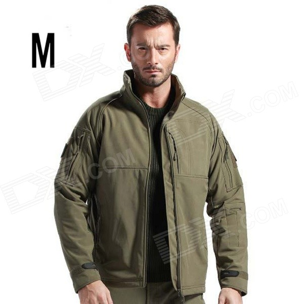 ESDY-0105 Outdoor Sports Water-Resistant Warm Polyester Jacket Coat for Men - Army Green (M)
