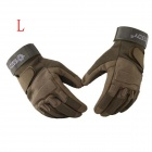 ESDY HYL-2 Outdoor Sports Full-Finger PU Tactical Gloves - Army Green (L / Pair)