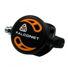 EZDIVE Air Balanced Regulator Second Stage für Scuba Diving - Schwarz + Orange