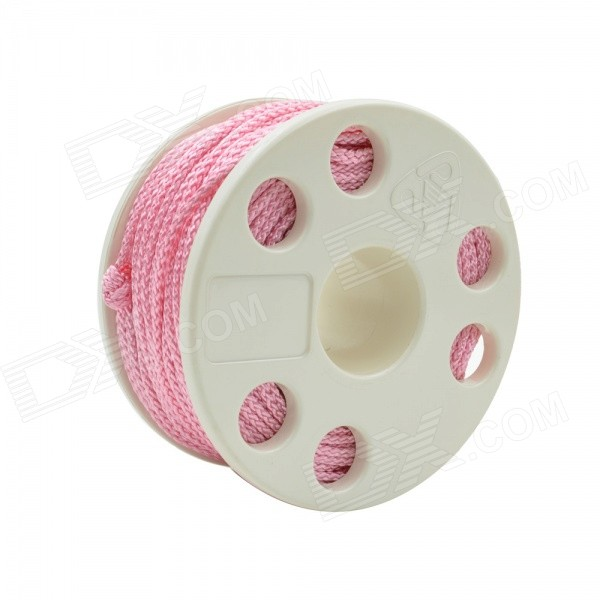 EZDIVE GL30 Scuba Diving Finger Spool w/ Double Ended Snap - White + Pink