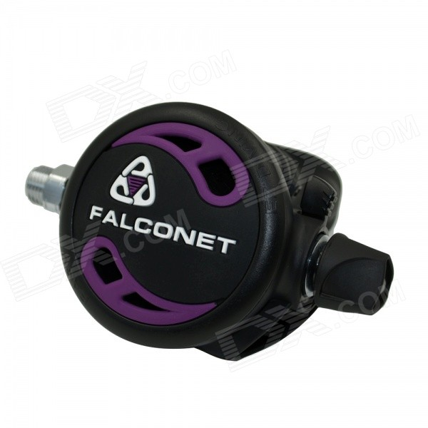 EZDIVE Air Balanced Regulator Second Stage for Scuba Diving - Black + Purple
