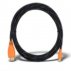 Yellow Knife YK074 HDMI V1.4 Male to Micro HDMI Male HD Data Cable - Orange (300cm)