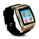 "GSM Bluetooth Watch Phone w/ 1.54"" TouchScreen, 2.0MP Camera, TF, Pedometer - Golden"