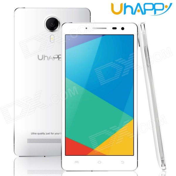 Uhappy UP620 Android 4.4 Octa-Core 3G Bar Phone w/ 5.5 QHD, 8GB ROM, 8.0MP, OTG, GPS - White s5 mtk6592 octa core android 4 4 2 wcdma bar phone w 5 0 ips qhd 8gb rom gps otg white