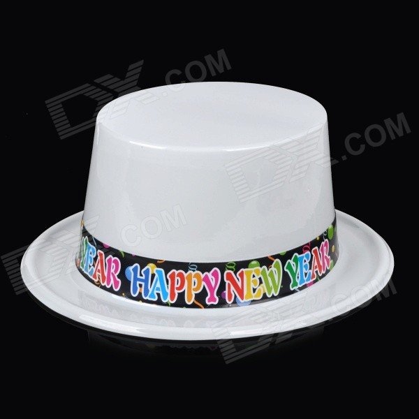 Christmas / New Year Party Show Costume Hat Cap Prop - White + Multicolor