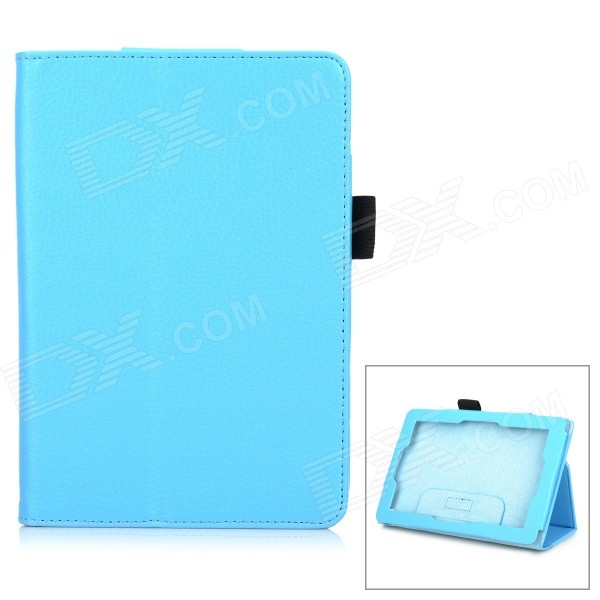 Protective Stylish PU Case w/ Stand for Amazon Kindle Fire HD 7 - Blue
