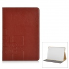 Protective Flip-Open PU Leather Smart Case w/ Stand for IPAD AIR 2 - Brown