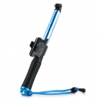 Handheld 4-Section Retractable Remote Control Monopod for GoPro Hero 4 / 3+ / 3 - Black + Light Blue