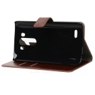 Protective PU Leather Case w/ Card Slot / Stand for LG G3 - Brown