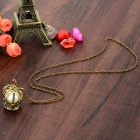 Women's Crown Style Sweater Pendant Necklace - Antique Bronze + White