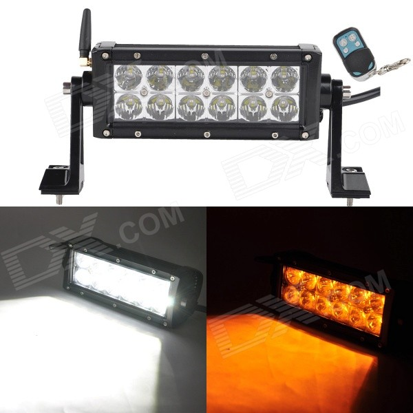 MZ 42W 3285lm LED White + Yellow Beam Worklight Bar Off-road 4WD UTV Lamp w/ Remote Controller