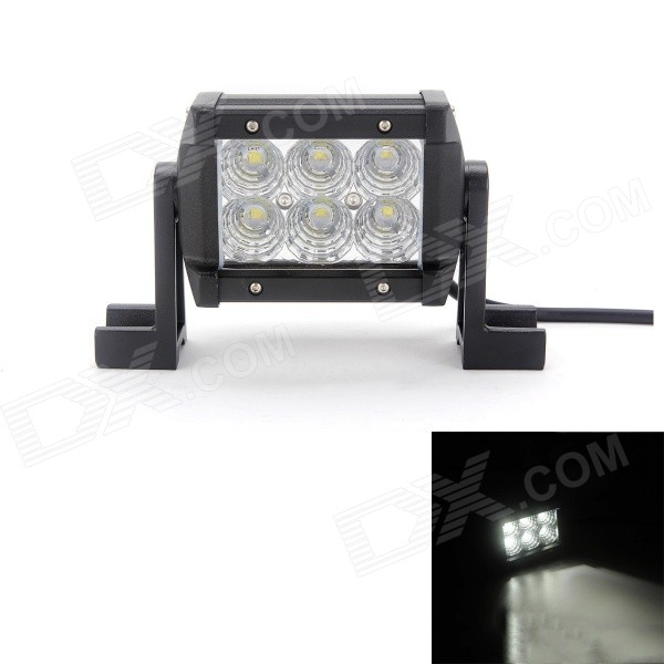 MZ 18W 1530LM 6000K LED Flood Beam Worklight Bar Off-road Lamp 4WD UTV Driving Light w/ Lens 1pcs 48w square round shape flood worklight head lamp truck motorcycle off road fog lamp tractor car led headlight work lights