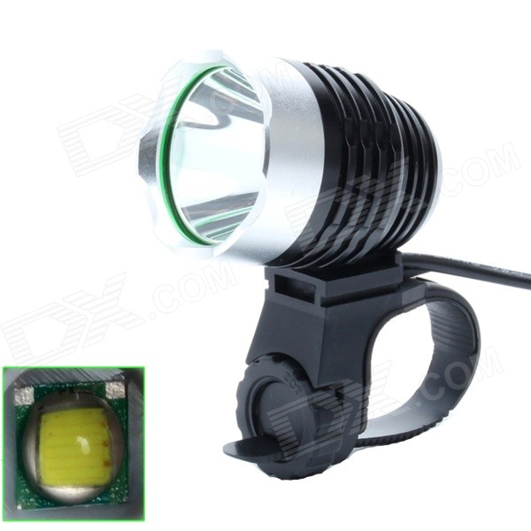 ZHISHUNJIA 810lm 6-Mode 1-LED White Light 3.7~8.4V USB Powered Bike Headlamp - Black + SilverBike Lights<br>Form ColorBlack + SilverModelLr-5vT6BlackQuantity1 DX.PCM.Model.AttributeModel.UnitMaterialAluminum alloyEmitter BrandOthers,N/ALED TypeXM-LEmitter BINT6Number of Emitters1Color BINCold WhiteWorking Voltage   3.7-8.4 DX.PCM.Model.AttributeModel.UnitPower Supply3.7-8.4V power supplyCurrent2.5 DX.PCM.Model.AttributeModel.UnitTheoretical Lumens900 DX.PCM.Model.AttributeModel.UnitActual Lumens810 DX.PCM.Model.AttributeModel.UnitRuntime4 DX.PCM.Model.AttributeModel.UnitNumber of Modes6Mode ArrangementHi,Mid,Low,Slow Strobe,Fast Strobe,SOSMode MemoryNoSwitch TypeForward clickyLensGlassReflectorAluminum SmoothFlashlight MountingHandlebar and HelmetSwitch LocationTailcapBeam Range200 DX.PCM.Model.AttributeModel.UnitBike Lamp Interface Size3.5mm + USBBattery Pack Interface Size3.5mmPacking List1 x Bike light 1 x USB power cable (60cm)<br>