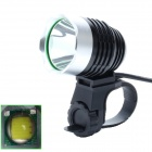 Buy ZHISHUNJIA 810lm 6-Mode 1-LED White Light 3.7~8.4V USB Powered Bike Headlamp - Black + Silver
