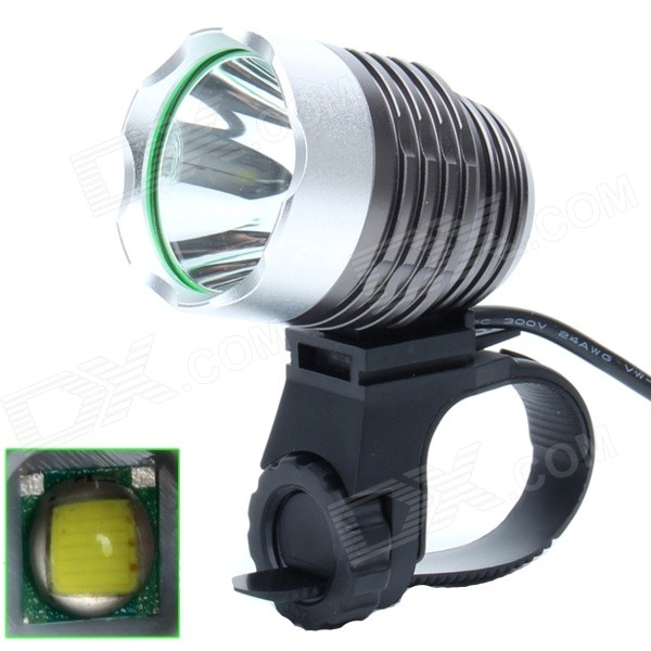ZHISHUNJIA 810lm 6-Mode 1-LED White Light 3.7~8.4V USB Powered Bike Headlamp - Deep Grey + Silver