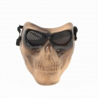 Cosplay Party Corpse Whole Face Mask - Khaki + Black