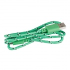 Uben US002 Universal Nylon Housing USB Male to Micro USB Data Sync & Charging Cable - Green (100cm)