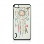 Dreamcatcher Pattern Protective PC Back Case for HUAWEI Honor 6 - White + Black + Multi-Color