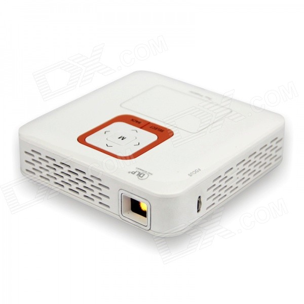 Mini Wi-Fi 1080P Full HD Android 4.2 Dual-Core LED Projector w/ 1GB RAM, 4GB ROM, TF - White