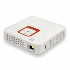 Mini WLAN-1080P volles HD Android 4.2 Dual-Core LED-Projektor w / 1GB RAM, 4 GB ROM, TF - Weiß