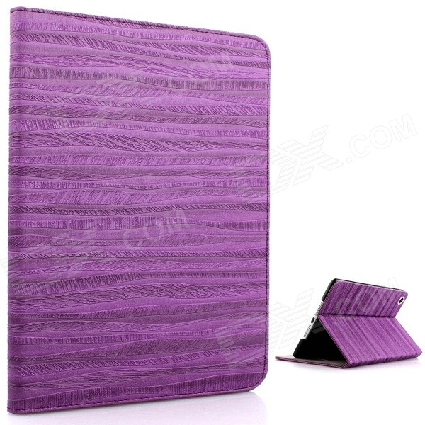 Mr.northjoe Protective PU Leather + PC Case w/ Stand + Auto Sleep for IPAD MINI 1 / 2 / 3 - Purple mr northjoe protective pu leather case w stand auto sleep for ipad mini 1 2 3 dark brown