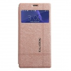 KALAIDENG Protective PU Leather Case Cover w/ Window + Stand for SONY XPERIA Z3 - Golden