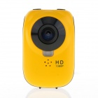 "Waterproof HD 1080P 0.5"" OLED 1/4"" CMOS 12MP Wi-Fi Sports Camera w/ HDMI TV Out / TF - Yellow"