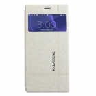 KALAIDENG Protective PU Leather Case Cover w/ Window + Stand for SONY XPERIA Z3 - White