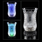 ZD-160 Creative LED Dazzling Colorful Light Cup - Transparent (160ML / 2 x CR2025)