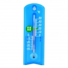 BDY-G963 Simple Style Eco-Friendly ABS Indoor & Outdoor Thermometer - Blue