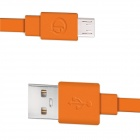 Fonemax X-SYNC USB Male to Micro USB Male Charging Data Cable for Cellphone - Orange