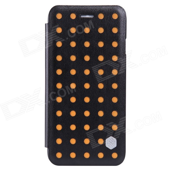 NILLKIN POP Series Protective PU Leather Case for IPHONE 6 4.7 - Black + Orange nillkin star series protective case for moto g2 pink