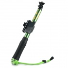 Handheld 4-Section Retractable Remote Control Monopod for GoPro Hero 4 / 3+ / 3 - Black + Green