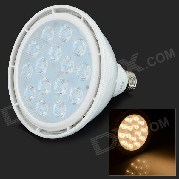 YouOkLight E27 15W 1370lm 3200K 15-SMD 3030 LED Warm White Par Light - White (AC 100~240V)