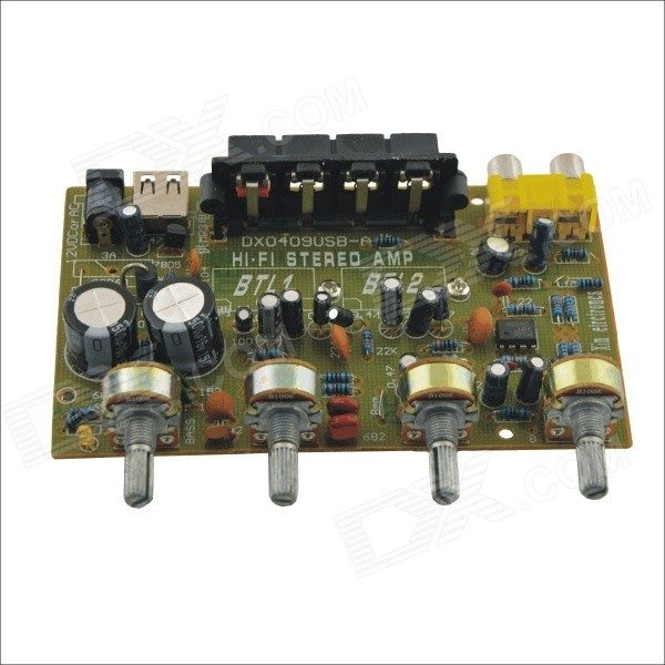 CARKING CS061 DIY Hi-Fi Stereo Amplifier Module Board w/ USB Port for Car